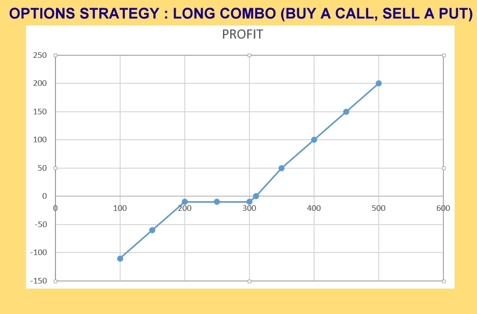 Option's Strategy: Long Combo (Sell a Put, Buy a Call)